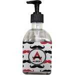 Mustache Print Soap/Lotion Dispenser (Glass) (Personalized)
