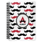 Mustache Print Spiral Bound Notebook (Personalized)