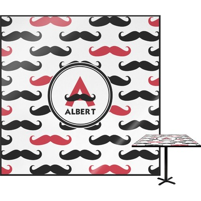 Mustache Print Square Table Top (Personalized)