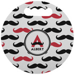 Mustache Print Stadium Cushion (Round) (Personalized)