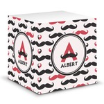 Mustache Print Sticky Note Cube (Personalized)