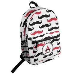 Mustache Print Student Backpack (Personalized)