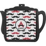 Mustache Print Teapot Trivet (Personalized)