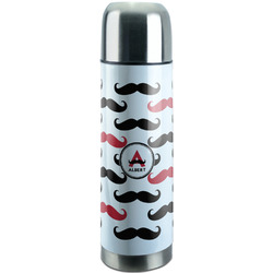 Mustache Print Stainless Steel Thermos (Personalized)