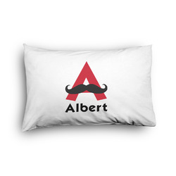 Mustache Print Pillow Case - Toddler - Graphic (Personalized)