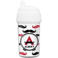Mustache Print Toddler Sippy Cup (Personalized)