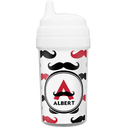 Mustache Print Sippy Cup (Personalized)