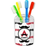 Mustache Print Toothbrush Holder (Personalized)