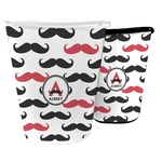 Mustache Print Waste Basket (Personalized)