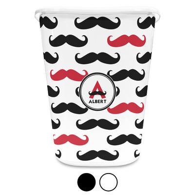 Mustache Print Waste Basket (Personalized)
