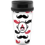 Mustache Print Travel Mug (Personalized)