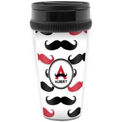 Mustache Print Travel Mugs (Personalized)