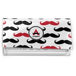 Mustache Print Vinyl Checkbook Cover (Personalized)