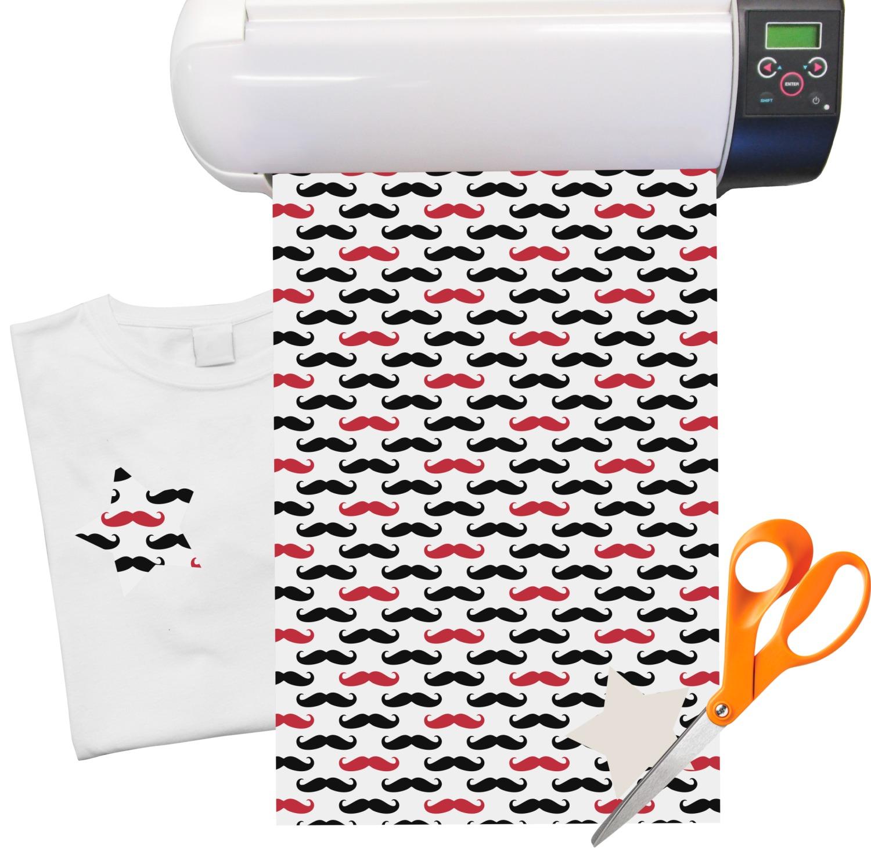 mustache print heat transfer vinyl sheet 12 x18 youcustomizeit. Black Bedroom Furniture Sets. Home Design Ideas
