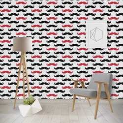 Mustache Print Wallpaper & Surface Covering