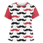 Mustache Print Women's Crew T-Shirt (Personalized)