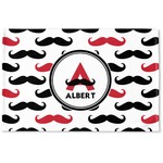 Mustache Print Woven Mat (Personalized)