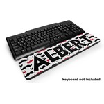Mustache Print Keyboard Wrist Rest (Personalized)