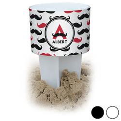 Mustache Print Beach Spiker Drink Holder (Personalized)