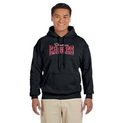Dawson Eagles Words in Plaid Black Hoodie (Personalized)