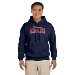 Dawson Eagles Words in Plaid Navy Hoodie (Personalized)