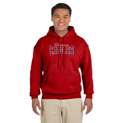 Dawson Eagles Words in Plaid Red Hoodie (Personalized)
