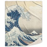 Great Wave off Kanagawa Sherpa Throw Blanket