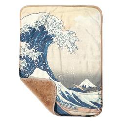 """Great Wave off Kanagawa Sherpa Baby Blanket 30"""" x 40"""""""