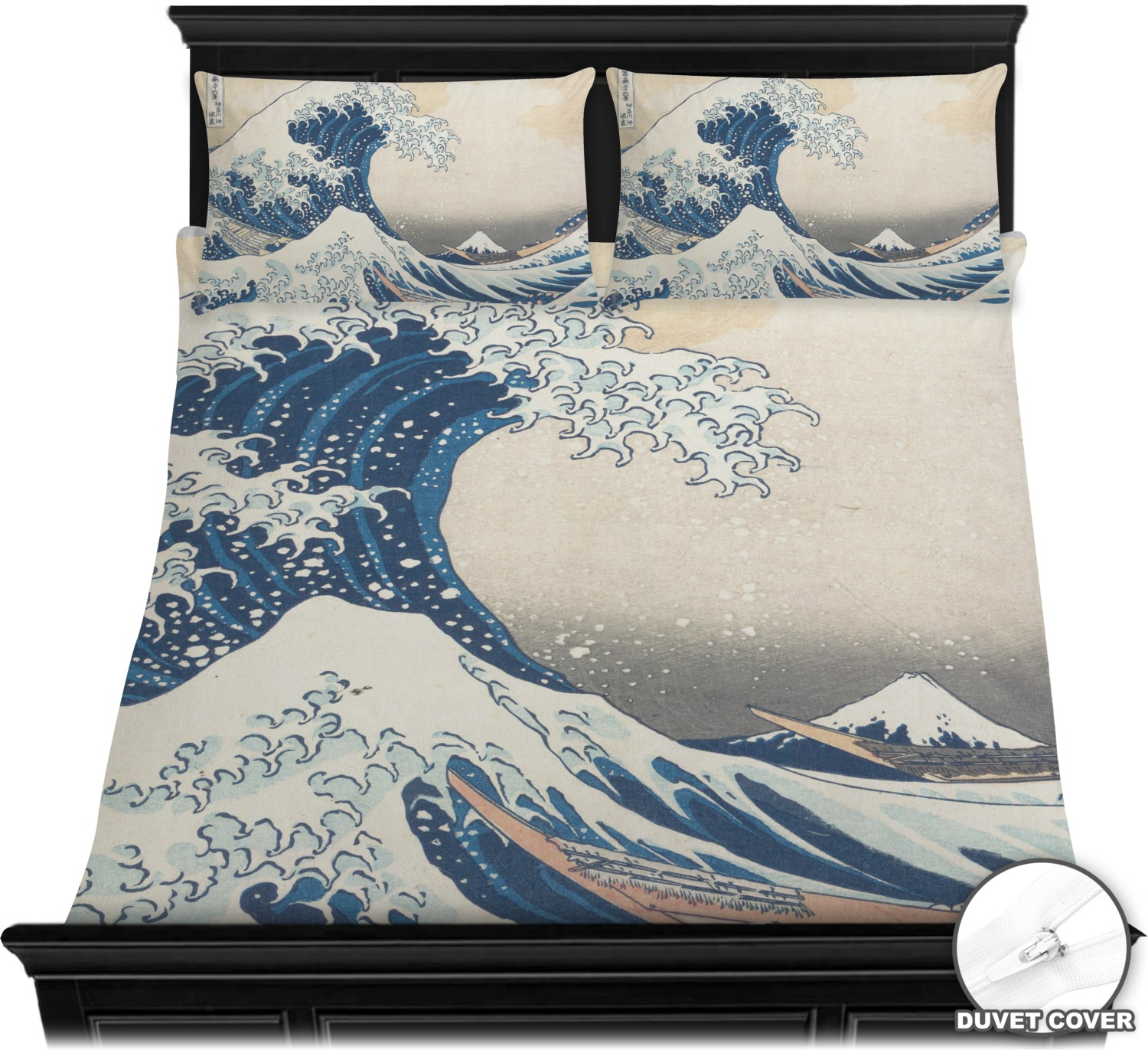 Great Wave Of Kanagawa Duvet Cover Set Youcustomizeit