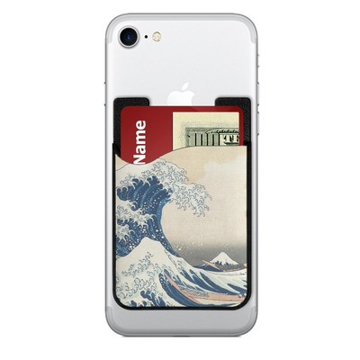 Great Wave off Kanagawa 2-in-1 Cell Phone Credit Card Holder & Screen Cleaner