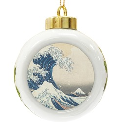 Great Wave of Kanagawa Ceramic Ball Ornament