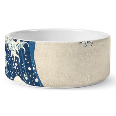 Great Wave off Kanagawa Ceramic Dog Bowl