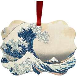 Great Wave off Kanagawa Metal Frame Ornament - Double Sided