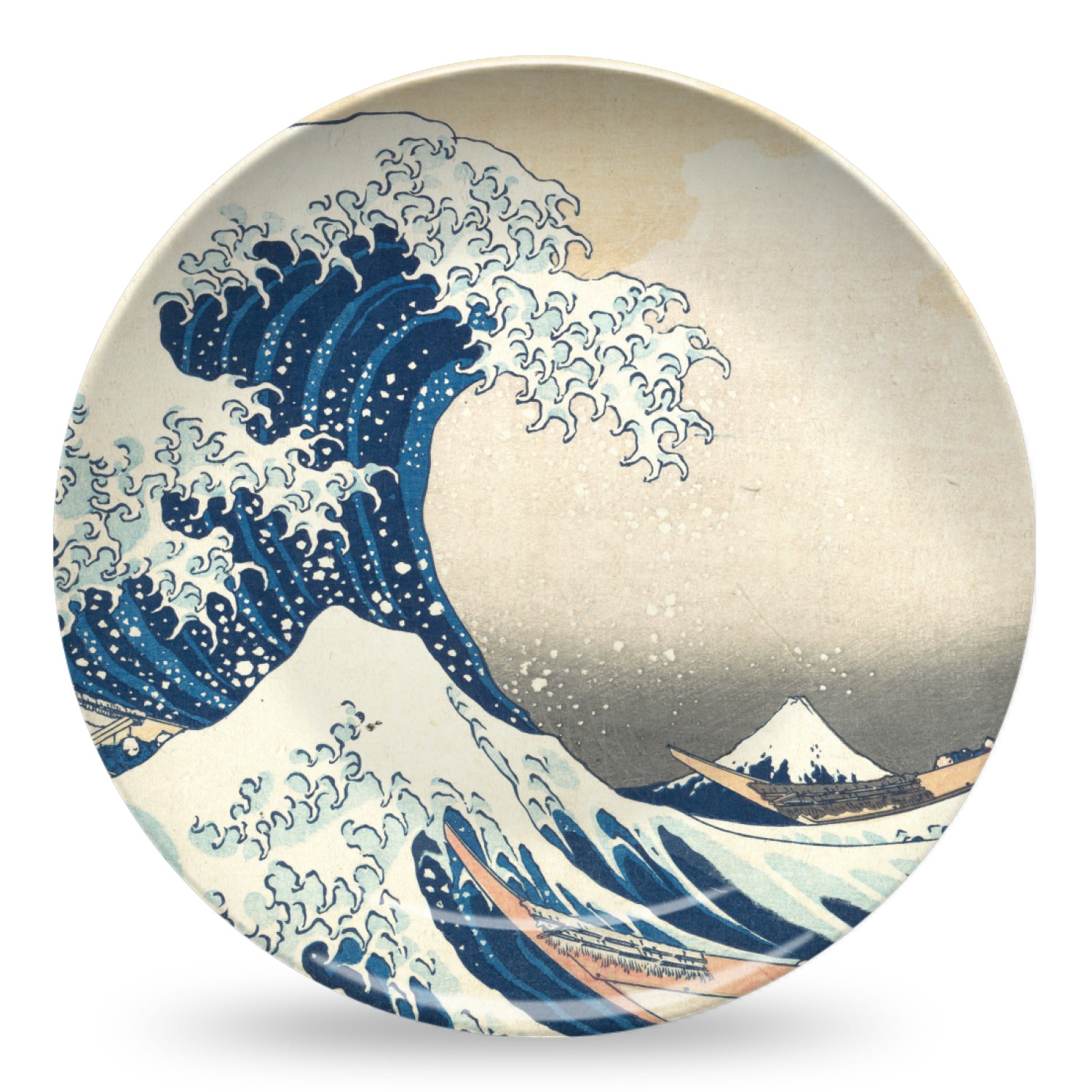Great Wave of Kanagawa Microwave Safe Plastic Plate - Composite Polymer  sc 1 st  YouCustomizeIt & Great Wave of Kanagawa Microwave Safe Plastic Plate - Composite ...