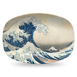 Great Wave of Kanagawa Plastic Platter - Microwave & Oven Safe Composite Polymer