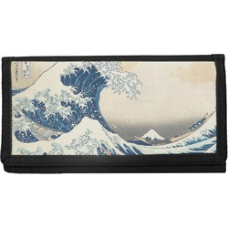 Great Wave of Kanagawa Canvas Checkbook Cover
