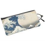 Great Wave off Kanagawa Genuine Leather Eyeglass Case