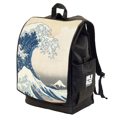 Great Wave of Kanagawa Backpack w/ Front Flap