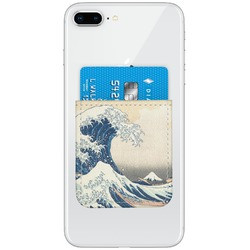 Great Wave of Kanagawa Genuine Leather Adhesive Phone Wallet