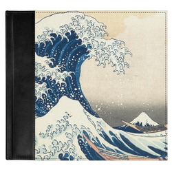 Great Wave of Kanagawa Genuine Leather Baby Memory Book