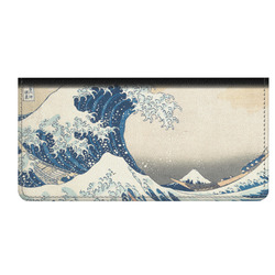 Great Wave of Kanagawa Genuine Leather Checkbook Cover