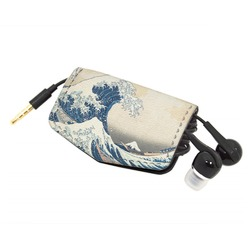 Great Wave of Kanagawa Genuine Leather Cord Wrap