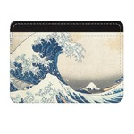 Great Wave of Kanagawa Genuine Leather Front Pocket Wallet