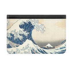 Great Wave of Kanagawa Genuine Leather ID & Card Wallet - Slim Style