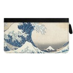 Great Wave of Kanagawa Genuine Leather Ladies Zippered Wallet
