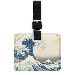 Great Wave off Kanagawa Genuine Leather Luggage Tag