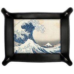 Great Wave of Kanagawa Genuine Leather Valet Tray