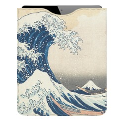 Great Wave of Kanagawa Genuine Leather iPad Sleeve
