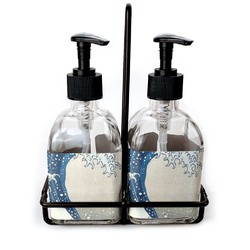 Great Wave of Kanagawa Soap/Lotion Dispensers (Glass)