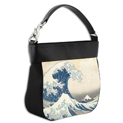 Great Wave of Kanagawa Hobo Purse w/ Genuine Leather Trim